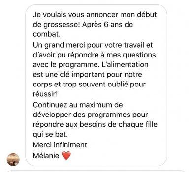 Temoignage Reussite Melanie